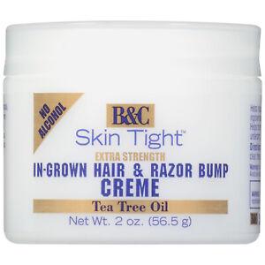 B&C Skin Tight EXTRA STRENGTH IN-GROWN HAIR & RAZOR BUMP CREME for MEN & WOMEN