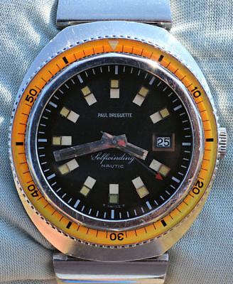 Rarissimo orologio sub diver 500 PAUL BREGUETTE by EBEL con ghiera in bachelite