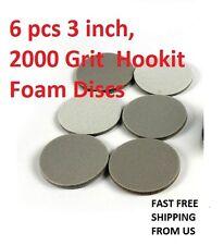 6 pcs 3 inch, 2000 Grit  Hookit Foam Discs
