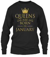 Queens are born in Month T SHIRT Party gift Reunion Celebration Funny Black