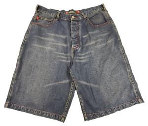 AESTHETICS SKATEBOARDS AND APPAREL   1990s Vintage Denim Shorts   Size 36