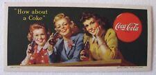 Vintage 1944 Coca-Cola How About A Coke Blotter Card NOS Litho USA Mint WWII Era