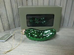 Glass CHRISTMAS PICKLE Ornament