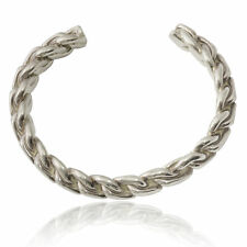 Plaited Heavy Bangle Sterling Silver 925