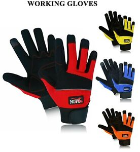 Work Gloves Mechanics Tradesman Hand Protection Farmer's Gardening DIY Builders