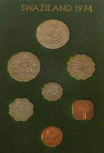 1974 SWAZILAND 7 COIN PROOF SET - EXCELLENT CONDITION