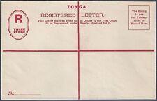 TONGA 1940's THREE PENCE MINT REGISTERED LETTER RARE