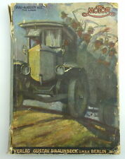 Alte Zeitschrift Motor 1919 Juli-August * sehr selten * mit Werbung e1096