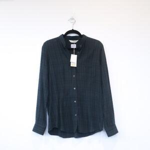 GOLDEN GOOSE DELUXE BRAND long sleeve button down shirt top green black L