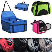 Portable Large Pet Carrier Bag Folding Dog Cat Puppy Seat Belt Booster Travel