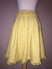 anthropologie maeve Mustard Yellow Lined Flare Skirt Sz.2
