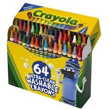 Crayola© ULTRA-CLEAN WASHABLE CRAYONS - 64 Color Crayons & Built In Sharpener
