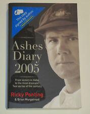 Ricky Ponting signed Ashes 2005 Diary + COA & Photo proof.