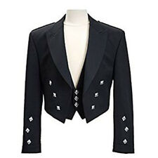 Boys & Mens Scottish Prince Charlie Kilt Jacket & Waistcoat Wedding/Party Dress