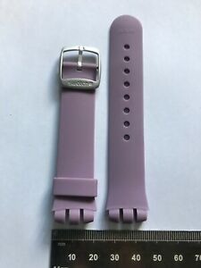 019 17mm Swatch Strap Beat Digital 'Moon Or Beat' Lilac