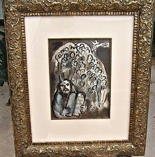 Marc Chagall, Moses and His People M.689, Lithograph, Custom Frame, COA