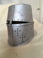 More details for medieval bucket helmet great helm crusades 14th century repro reenactment larp