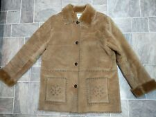 Bagatelle 100% Leather Faux Fur Lining Size XL Button Up Front Pockets Designed