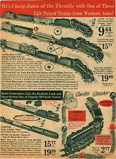 1966 PAPER AD Marx Toy Train Set 5 Unit Steam Lionel Lego Wheel Sets Car Truck