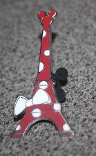 DISNEY PIN MINNIE MOUSE EIFFEL TOWER DISNEYLAND RESORT PARIS RED POLKA DOTS BOW