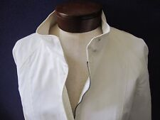 Burberry London Slim Fit Off White Pleated Jacket Coat EUC Dry Cleaned 8 10