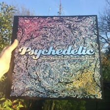 NEW Adult Colouring Book Psychedelic Beautiful Detailed Trippy - Misprints