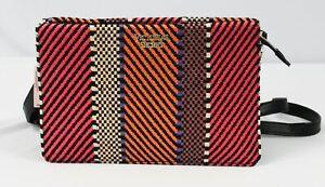 Victoria's Secret Women's Woven Straw 24/7 Crossbody Bag OS6 Multicolor