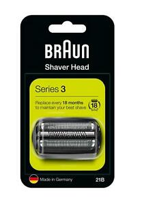 BRAUN 21B SERIES 3 ELECTRIC SHAVER REPLACEMENT FOIL CASSETTE CARTRIDGE - BLACK