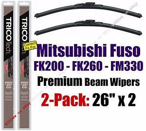 Wipers 2pk Premium - fit 2008-2011 Mitsubishi Fuso FK200 FK260 FM330 - 19260x2