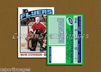 Wayne Stephenson - Philadelphia Flyers - Custom Hockey Card  - 1975-76