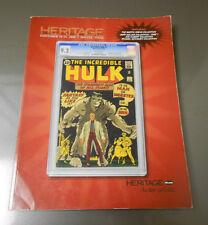 2009 HERITAGE Comics Comic Art Auction Catalog HULK #1 Nov 19-21 VF+ 338 pgs