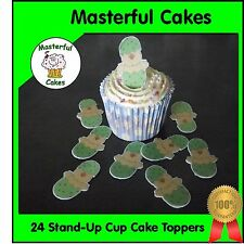 24 Pre-Cut Stand-Up Easter Chick  Design Edible Rice paper Cup Cake Toppers
