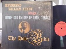 VERY RARE REV. WILLIAM ABNEY SINGS THANK GOD I AM ONE OF THEM TODAY  IN SHRINK