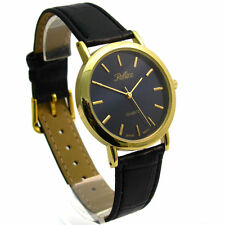 Faux Leather Band Men's Casual Round Wristwatches