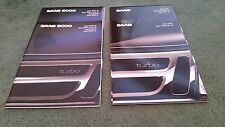 1989 SAAB 9000 & CD - 2 x DIFFERENT UK SLIP CASE BROCHURE - MINT