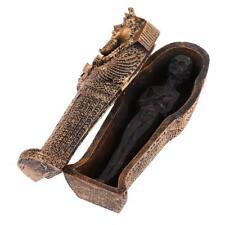 Ancient Egyptian Black Mummy Figurine w/ Coffin Resin Craft Home Decoration