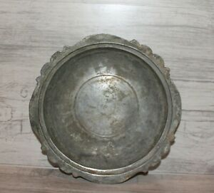 Antique hand made tinned copper bowl