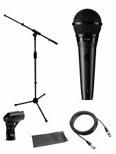 Shure*PGA58 Vocal Microphone XLR Cable Bundle* PG58+MIC Boom Stand+Bag+Clip NEW