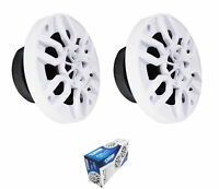 "Pair of White DS18 Hydro 4"" 4 Ohm 300 Watts 2-Way Marine Speakers NXL-4"