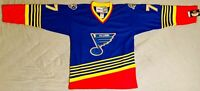 1997 Pierre Turgeon St. Louis Blues NHL Blue Jersey Size Men's Large