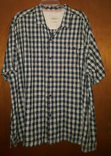 Tommy Bahama 100% SILK Camp Shirt 3XL XXXL coconut shell buttons, collared top