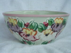 """FIORIWARE & JARDINWARE 10 1/2"""" x 5"""" TALL BOWL EXCELLENT! BUY IT NOW!!"""