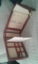 Dulwich designs leather travel jewellery box