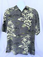 Tommy Bahama 100% Silk Men's Shirt Medium Short Sleeve Button Front Hawaiian