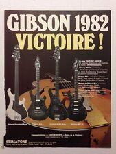 PUBLICITE ANNEES 80 GUITARES GIBSON