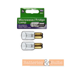 x2 15w SBC Appliance Lamp Sewing Machine / Microwave / Fridge / Pottery Bulb
