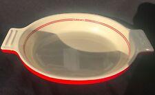Cuisinart Au Gratin Baking Dish Red Enamel  6 cup  Rare