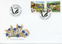 Luxembourg 2019 FDC Rural Tourism Horses Sheep 2v Set Farm Animals Stamps