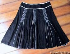 JOHN PAUL RICHARD ~ Size Petite Medium ~ Black RIBBON Beach Knee Skirt