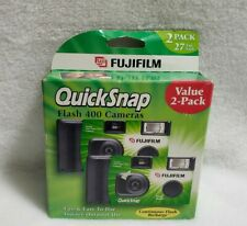 Fujifilm QuickSnap Flash 400 Speed Single Use Camera 2 Pack NEW EXPIRED 2008